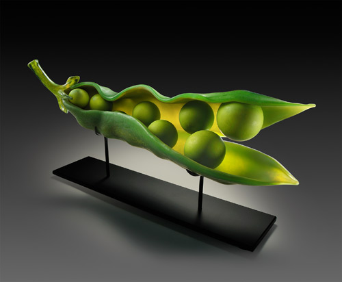 Green Apple Split Pod by Randy Walker - William Traver Gallery