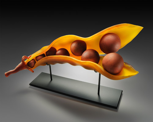 Terracotta Split Pod by Randy Walker - William Traver Gallery